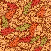 Autumn oak leaves seamless pattern — Stock Vector