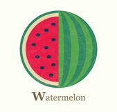 Watermelon raster illustration — Stock Photo