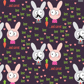 Rabbit Pattern — Stock Vector