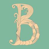 Letter B - Script — Stock Vector