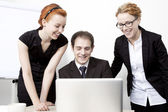 Happy business colleagues — Stock Photo