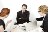 Frustrating business meeting — Stock Photo