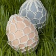 Traditional hand decorated Easter Eggs — Stock Photo