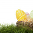 Country handcrafted Easter Eggs — Stock Photo