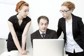 Surprised business team — Stock Photo