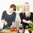 Two women preparing a meal — Stock Photo #22906720