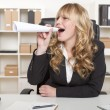 Young blond attractive business woman — Foto de Stock