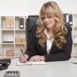 Stock Photo: Young blond attractive business woman