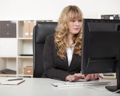 Young blond attractive business woman — ストック写真