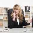 Businesswoman having a discussion on the phone — Stock Photo #38677073