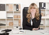 Pensive worried businesswoman — Stock Photo