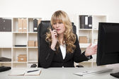 Businesswoman having a discussion on the phone — Stock Photo