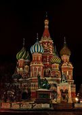 St. Basil's Cathedral in the night — Stock Photo