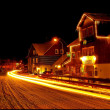 Stock Photo: Ski resort in night