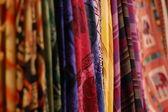 Colourful fabrics — Stock Photo