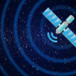 Animation of satellite in space — Video