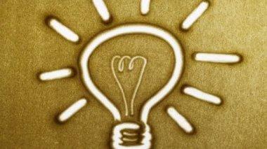 лампа, остановить движение анимация — Стоковое видео