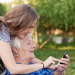 Grandmother and teenager girl Granddaughter — Stock Photo