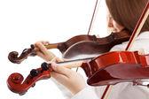 Violin duet — Stock Photo