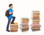 Stepping Up To School Work — Stock Photo