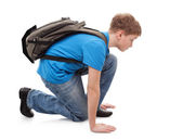 Low start of running in school — Stock Photo
