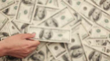 Money, Lots of hundred dollar bills — Stock Video
