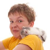 Allergy on pets — Stock Photo
