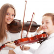 Violin duet — Stock Photo