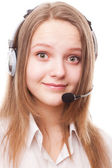 Beautiful girl with headphones — Stock Photo