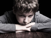 Sad teenage boy — Stock Photo