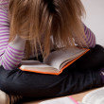The student doing homework — Stock Photo