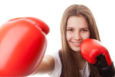 Punch, Boxing - Women — Stock Photo
