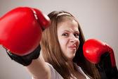 Punch, Boxing - Women — Stock Photo