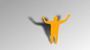 Man jumping — Stock Video