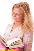 Teenager girl with books — Stock Photo