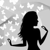 女の子 — ストックベクタ