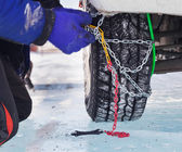 Snow chains — Foto Stock