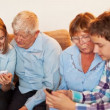 Teenagers and Old Persons Learn Smartphone — Stock Video