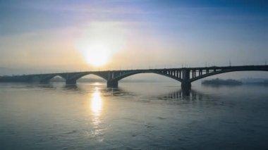 Bridge Over River — Stock Video