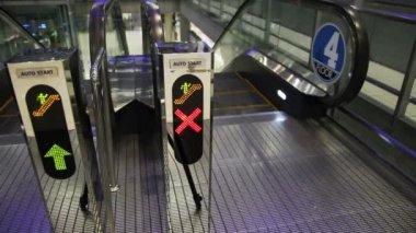 Escalator Walkway In Airport — Stock Video