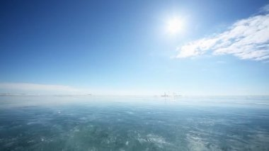 Lake Baikal in winter — Stock Video