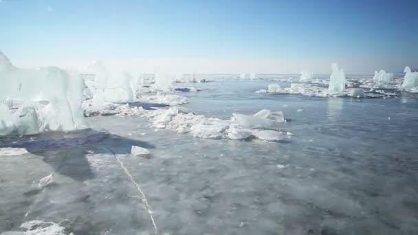 Figuras de hielo — Vídeo de stock