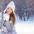 Portrait of young beautiful woman outdoor — Stock Photo #21037583