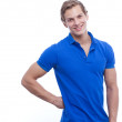 Portrait of a young handsome man wearing blue t-shirt — Stock Photo #33620591