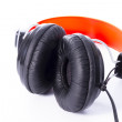 Headphones to listen to music - Stock Photo