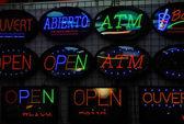 Neon Signboard — Stock Photo