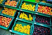Сucumber, green vegetables — Foto de Stock