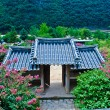 Korean summer. Temple in the forest — Stock Photo