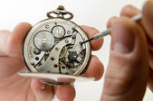 Pocket watch reparation. — Stockfoto