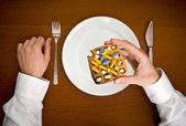 Medycyna posiłek. — Zdjęcie stockowe